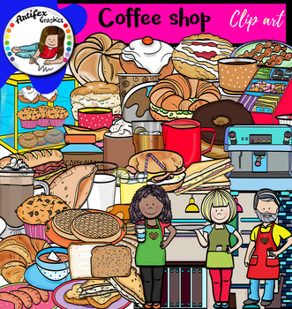 Coffee shop- Big set of 85 images!