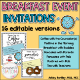 Coffee with Counselors, Pancakes with Pals, and More! - 16 EDITABLE Invitations