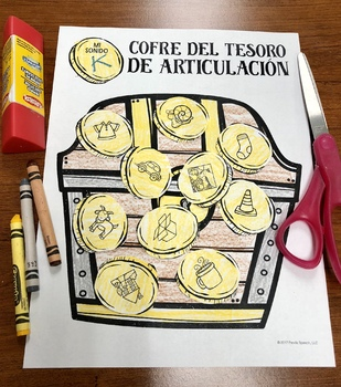 Cofre Del Tesoro De Articulación: A Speech Craft Activity (Español)