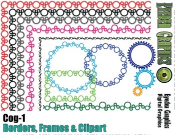 Cog Borders and Photo Frames (and clipart)