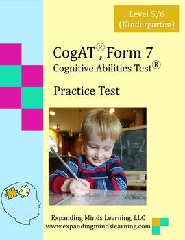CogAT, Form 7 Practice Test: Level 5/6 (Kindergarten)