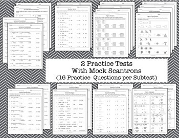 CogAT Test Prep- Introduction, Whole Group Practice, and 2 Mock Tests