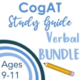 CogAT Test Prep- Intro, Whole Group Practice, & Mock Tests for Subtests 1-3