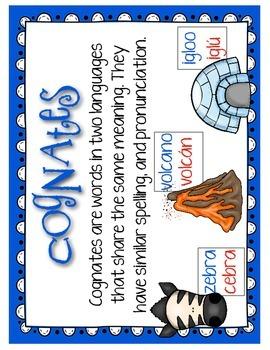 Cognados: ¡250 tarjetas de vocabulario con cognados en inglés y en español!