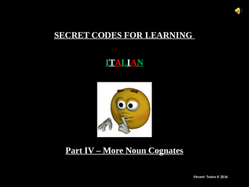 Italian Made Simple: Cognate Codes 104-More Nouns