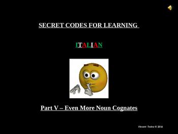 Italian Made Simple: Cognate Codes 105-Even More Nouns