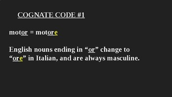 Italian Made Simple: Secret Gender Codes of Nouns with Neutral Endings