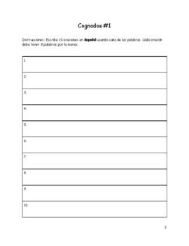 Cognate Vocabulary Workbook