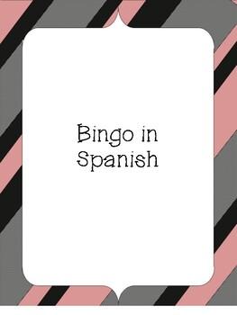 Cognates Bingo. Bingo de Cognados