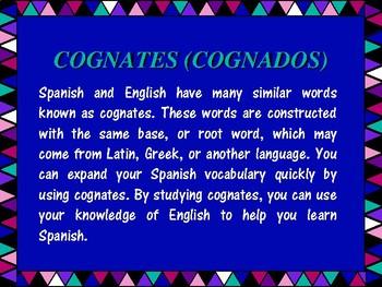 Cognates (Cognados) Guidelines