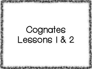 Cognates Lessons Bundle