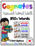 Cognates Visual Word Wall 600+ Words - Los cognados- Pared
