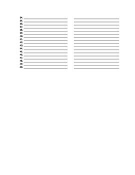 Cognates Worksheet