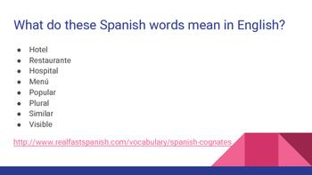 Cognates- en español