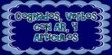 Cognatos, Verbos con AR y Articulos (Cognates, AR Verbs &