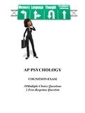 Cognition Unit Exam for AP Psychology