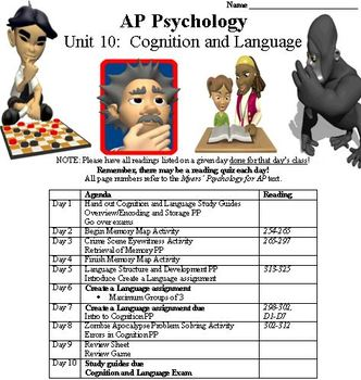 Cognition and Language Complete Unit for Psychology