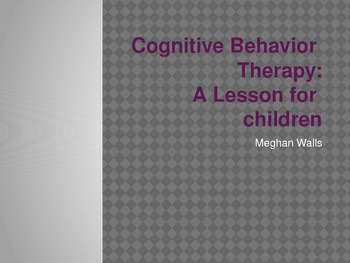 Cognitive-Behavior Therapy for Kids