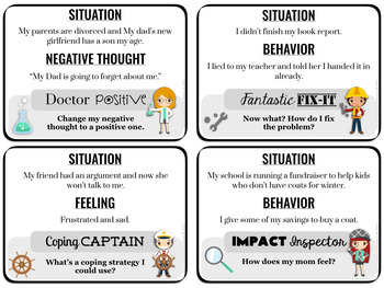 A CBT Counseling Game: Coping, Problem Solving, Perspective Taking, Feelings
