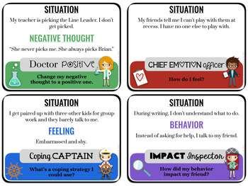 CBT School Counseling Game for Social Emotional Learning
