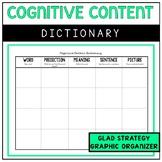 Cognitive Content Dictionary, Vocabulary Graphic Organizer