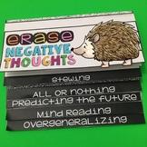 Cognitive Distortions Flip Book Hedgehog Theme