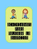 Cognitive Games - focus and attention / Juegos Cognitivos -atención