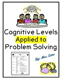 Cognitive Levels Applied to Problem Solving (for Teachers)