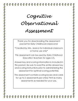 Cognitive Observational Assessment