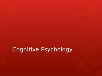Cognitive Psychology (a Christian perspective)