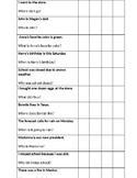 Cognitive Questions for Aphasia Patients