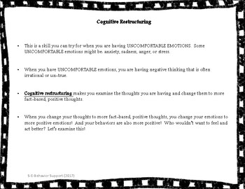 Cognitive Restructuring Practice Activity for Teens