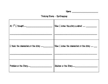 Cognitive Strategies - Synthesis Graphic Organizers