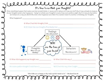 Cognitive Triangle Student Worksheet