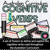 Cognitive Verb Posters based on Australian Curriculum Achi