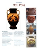 Coil Pot lesson objectives poster