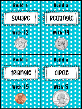 Coin 2D Shape Cards and Reflection Mat