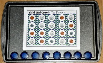 Coin Activities: Find and Cover Coins (Identifying Coins)
