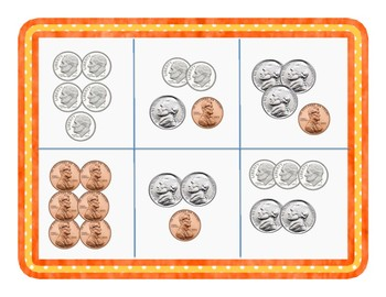 Coin Bingo - Penny, Nickel, Dime
