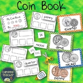 United States Money Coin Book and Posters Whole Group Centers Math