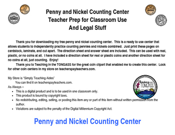 Coin Center Pennies and Nickels
