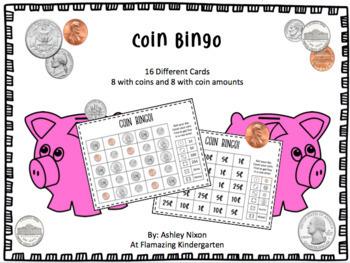 Coin Centers Bundle - Coin 2D Shape Cards, Coin Tic-Tac Toe, Coin BINGO, +BONUS