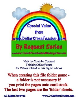 Coin - Change Money Math Center Folder Activity nickel dime quarter penny Value