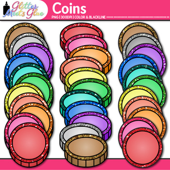 Coin Clip Art: Counting and Sorting Graphics {Glitter Meets Glue}
