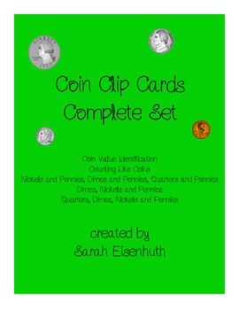 Coin Clip Cards Complete Set