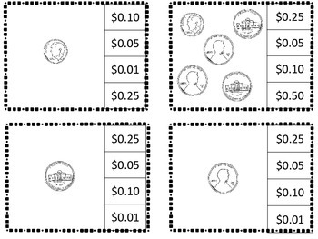Coin Clips:  Counting Money