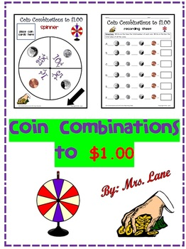 Coin Combinations to $1.00 (Money Game)