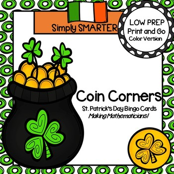 Coin Corners:  LOW PREP St. Patrick's Day Bingo Cards