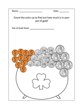 Coin Count Pot of Gold