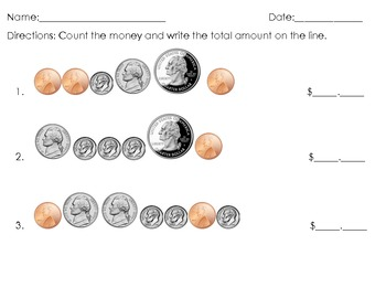 Coin Counting Assessment